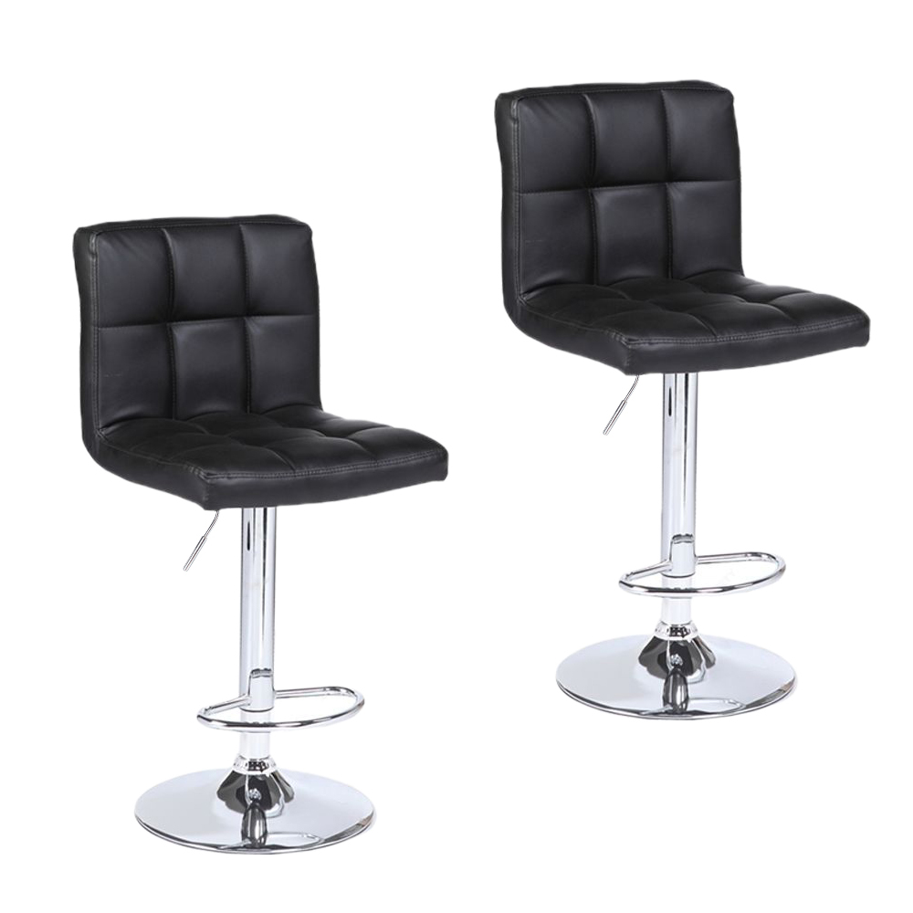 Enjoyable Details About 2Pack Adjustable Modern Bar Stools Leather Hydraulic Dinning Swivel Chair Black Squirreltailoven Fun Painted Chair Ideas Images Squirreltailovenorg